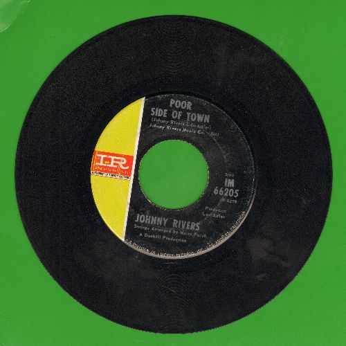 Rivers, Johnny - Poor Side Of Town/A Man Can Cry  - VG7/ - 45 rpm Records