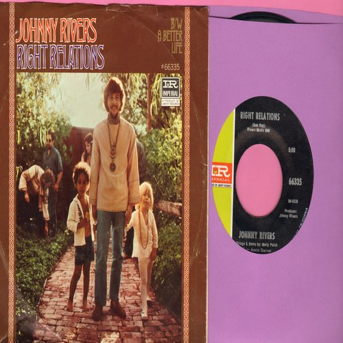 Rivers, Johnny - Right Relations/A Better Life (with picture sleeve) - M10/EX8 - 45 rpm Records