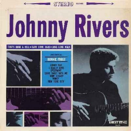 Rivers, Johnny, Ronnie Frost - Johnny Rivers - Also featuring Ronnie Frost: That's Rock And Roll, Candy Bar, Come Twist With Me, Honey, Goin' Steady, Spearmint (Vinyl STEREO LP record) - NM9/VG7 - LP Records