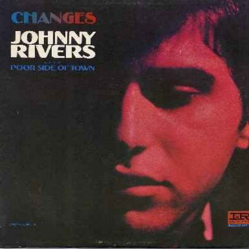 Rivers, Johnny - Changes: Poor Side Of Town, Do You Wanna Dance?, Softly As I Leave You, California Dreamin' (Vinyl MONO LP record) - EX8/EX8 - LP Records