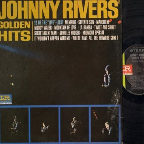 Rivers, Johnny - Golden Hits: Midnight Special, Where Have All The Flowers Gone, Secret Agent Man, Memphis, Maybellene, Seventh Son (Vinyl STEREO LP record) - EX8/EX8 - LP Records