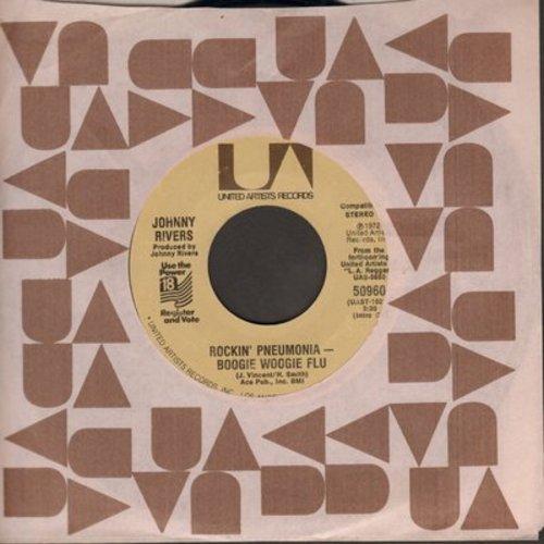 Rivers, Johnny - Rockin' Pneumonia - Boogie Woogie Flu/Come Home America (wol) - NM9/ - 45 rpm Records