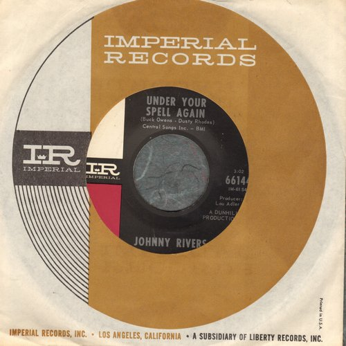 Rivers, Johnny - Under Your Spell Again/Long Time Man (with Imperial company sleeve) - NM9/ - 45 rpm Records