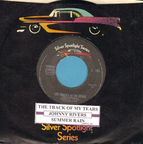 Rivers, Johnny - The Tracks Of My Tears/Summer Rain (double-hit with juke box label) - NM9/ - 45 rpm Records