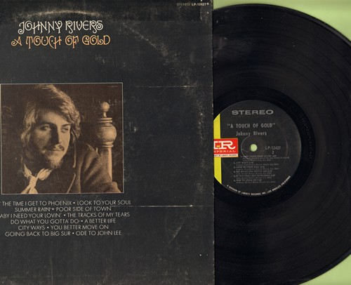 Rivers, Johnny - A Touch Of Gold: Poor Side Of Town, Baby I Need Your Lovin', The Tracks Of My Tears, By The Time I Get To Phoenix (Vinyl STEREO LP record) - NM9/VG7 - LP Records