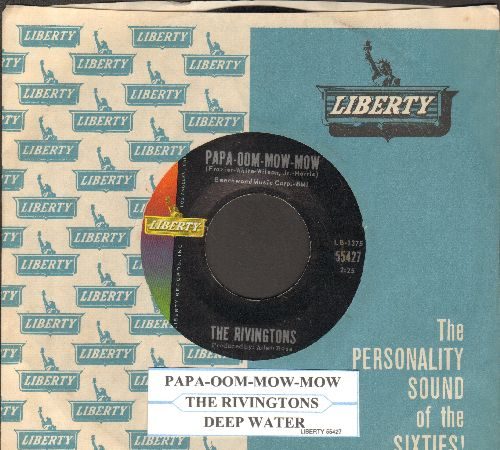 Rivingtons - Papa-Oom-Mow-Mom/Deep Water (with Liberty company sleeve and juke box label) - EX8/ - 45 rpm Records