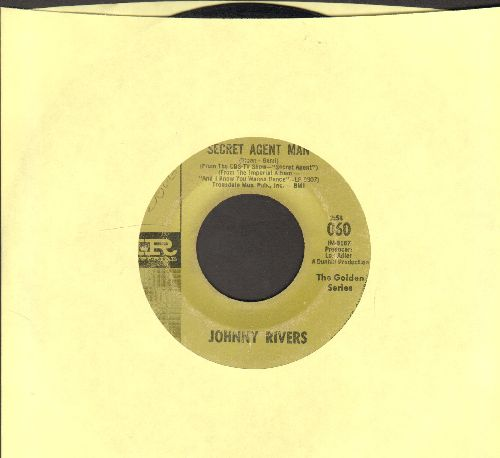 Rivers, Johnny - Secret Agent Man/Under Your Spell Again (early double-hit re-issue) - VG7/ - 45 rpm Records