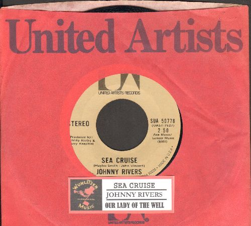 Rivers, Johnny - Sea Cruise/Our Lady Of The Well (with juke box label and United Artists company sleeve) - NM9/ - 45 rpm Records