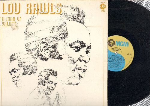 Rawls, Lou - A Man Of Value: The Politician, Walk On In, Fire And Rain, Learning Cup, Evil (Vinyl STEREO LP record) - EX8/VG7 - LP Records