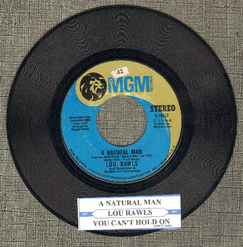 Rawls, Lou - A Natural Man/You Can't Hold On (with juke box label) - EX8/ - 45 rpm Records