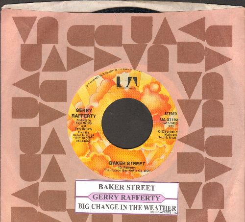 Rafferty, Gerry - Baker Street/Big Change In The Weather (with juke box label and company sleeve) - EX8/ - 45 rpm Records