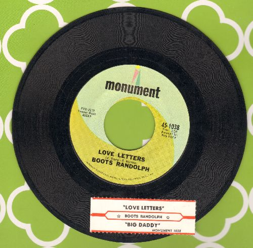 Randolph, Boots - Big Daddy (RARE vocal recording by the King of Instrumental Jazz!)/Love Letters (with juke box label) - NM9/ - 45 rpm Records