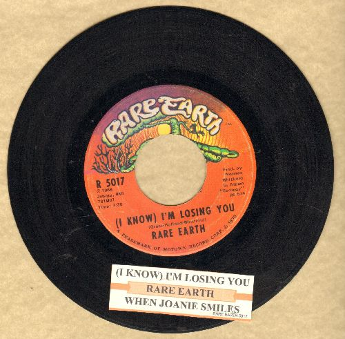 Rare Earth - (I Know) I'm Losing You/When Joanie Smiles (bb)(with juke box label) - EX8/ - 45 rpm Records
