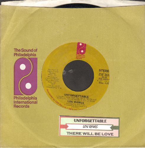 Rawls, Lou - Unforgettable/There Will Be Love (with juke box label and  company sleeve) - EX8/ - 45 rpm Records