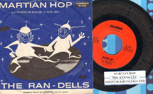Ran-Dells - Martian Hop (Halloween Party Favorite!)/Forgive Me Darling (I Have Lied) (with RARE picture sleeve and juke box label!) - NM9/VG7 - 45 rpm Records