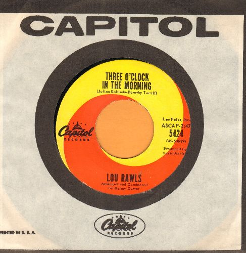 Rawls, Lou - Three O'Clock In The Morning (with Capitol company sleeve) - NM9/ - 45 rpm Records