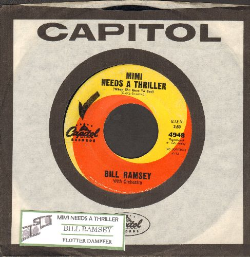 Ramsey, Bill - Mimi Needs A Thriller (When She Goes To Bed) (Original German -Ohne Krimi geht die Mimi nie in's Bett-)/Flotter Dampfer (US Pressing with vintage Capitol company sleeve, sung in German) - EX8/ - 45 rpm Records