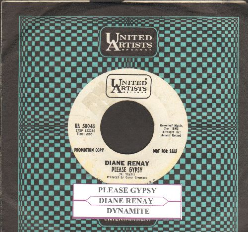 Renay, Diane - Please Gypsy/Dynamite (DJ advance pressing with juke box label and United Artists company sleeve) - EX8/ - 45 rpm Records
