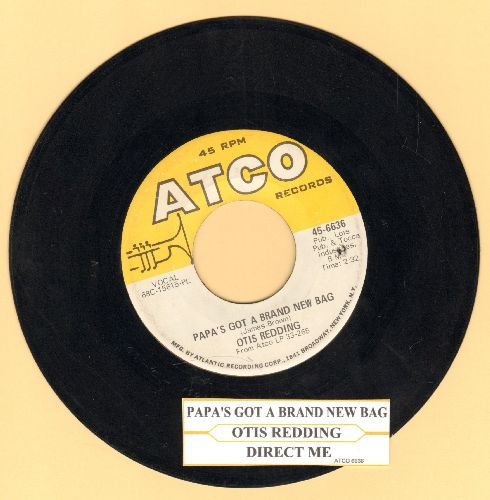 Redding, Otis - Papa's Got A Brand New Bag/Direct Me (with juke box label)(bb) - NM9/ - 45 rpm Records