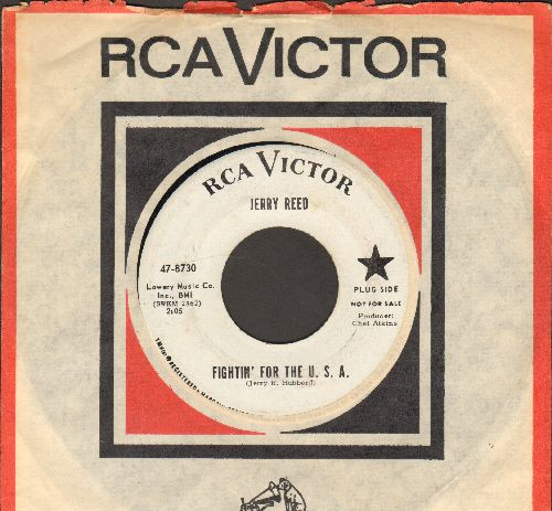 Reed, Jerry - Fightin' For The U.S.A./Navy Blues (DJ advance pressing with vintage RCA company sleeve) - NM9/ - 45 rpm Records
