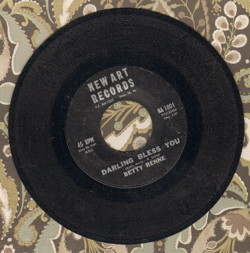 Renne, Betty - Darling Bless You/Bye Bye Baby (RARE Vintage R&B 2-sider!) - EX8/ - 45 rpm Records