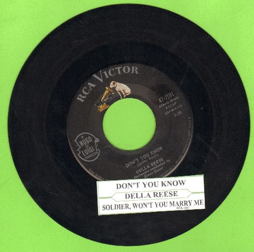 Reese, Della - Don't You Know/Soldier, Won't You Marry Me? (with juke box label) - EX8/ - 45 rpm Records
