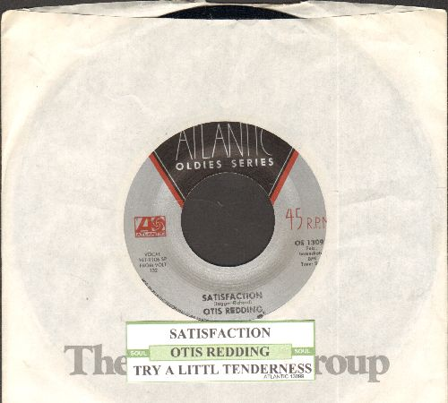 Redding, Otis - Satisfaction/Try A Little Tenderness (double-hit re-issue with Atlantic company sleeve) - NM9/ - 45 rpm Records