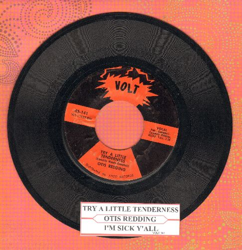 Reding, Otis - Try A Little Tenderness/I'm Sick Y'all (with juke box label) - VG7/ - 45 rpm Records