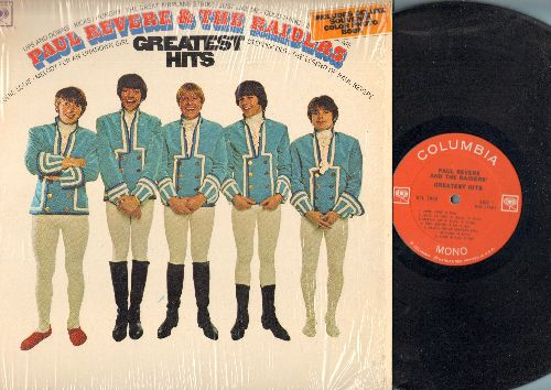 Revere, Paul & The Raiders - Greatest Hits: Louie Luoie, Kicks, The Great Airplane Strike, Ups And Downs, Hungry (vinyl MONO LP record) - EX8/NM9 - LP Records