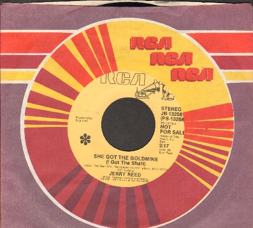 Reed, Jerry - She Got The Goldmine (I Got The Shaft)/44 (DJ advance pressing with RCA company sleeve) - NM9/ - 45 rpm Records