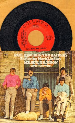 Revere, Paul & The Raiders - Mr. Sun, Mr. Moon/Without You (with picture sleeve) - NM9/EVG7 - 45 rpm Records