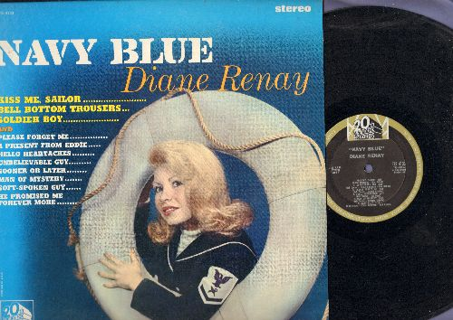 Renay, Diane - Navy Blue: Kiss Me Sailor, Bell Bottom Trousers, Soldier Boy, Please Forget Me, A Present From Eddie, Hello Heartaches, Soft-Spoken Guy (RARE STEREO Pressing in NICE codnition!) - NM9/NM9 - LP Records