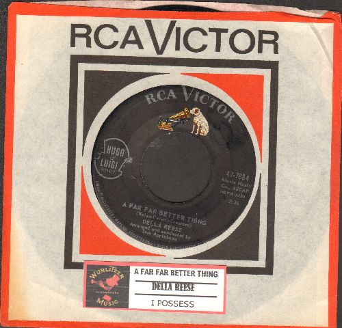 Reese, Della - A Far Far Better Thing/I possess (with juke box label and vintage RCA company sleeve) - NM9/ - 45 rpm Records