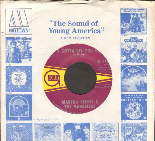 Reeves, Martha & The Vandellas - I Gotta Let You Go/You're The Loser Now (with Motown company sleeve) - NM9/ - 45 rpm Records