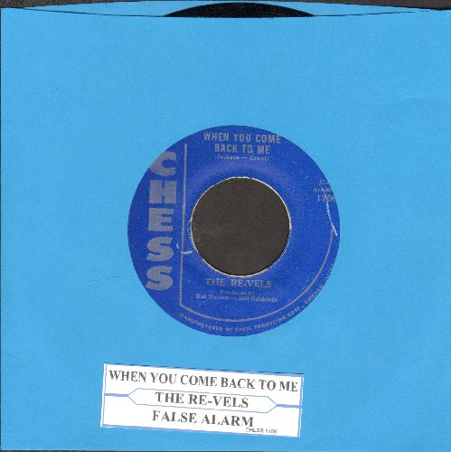 Re-Vels - When You Come Back To Me/False Alarm  (authentic-looking re-issue of vintage Doo-Wop classic with juke box label) - NM9/ - 45 rpm Records