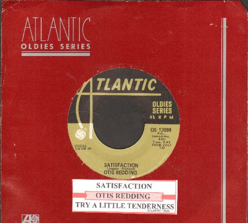 Redding, Otis - Satisfaction/Try A Little Tenderness (double-hit re-issue with juke box label and Atlantic company sleeve) - NM9/ - 45 rpm Records