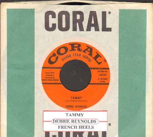 Reynolds, Debbie - Tammy/French Heels (NICE condition early re-issue with juke box label and vintage Coral company sleeve) - M10/ - 45 rpm Records
