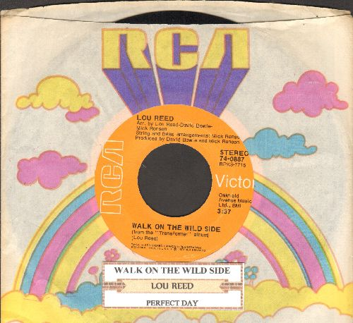 Reed, Lou - Walk On The Wild Side/Perfect Day (with juke box label and RCA company sleeve) - NM9/ - 45 rpm Records