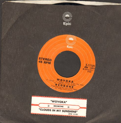 Redbone - Wovoka/Clouds In My Sunshine (with juke box label and Epic company sleeve) - NM9/ - 45 rpm Records