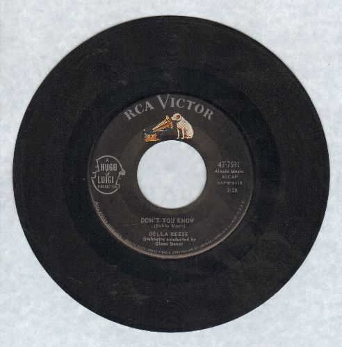 Reese, Della - Don't You Know/Soldier, Won't You Marry Me? - EX8/ - 45 rpm Records