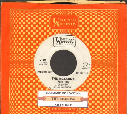 Reasons - Silly Boy/You Made Me Love You (DJ advance pressing with juke box label and United Artists company sleeve)  - EX8/ - 45 rpm Records