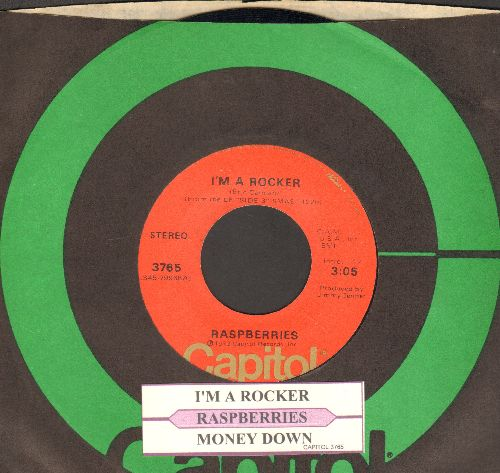 Raspberries - I'm A Rocker/Money Down (with juke box label and Capitol company sleeve) - NM9/ - 45 rpm Records