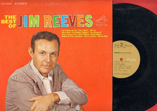 Reeves, Jim - The Best Of: He'll Have To Go, Four Walls, Billy Bayou, Danny Boy, Adios Amigo, Blue Boy (Vinyl STEREO LP record) - NM9/EX8 - LP Records