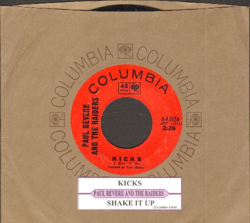 Revere, Paul & The Raiders - Kicks/Shake It Up (with Columbia company sleeve and juke box label) - EX8/ - 45 rpm Records