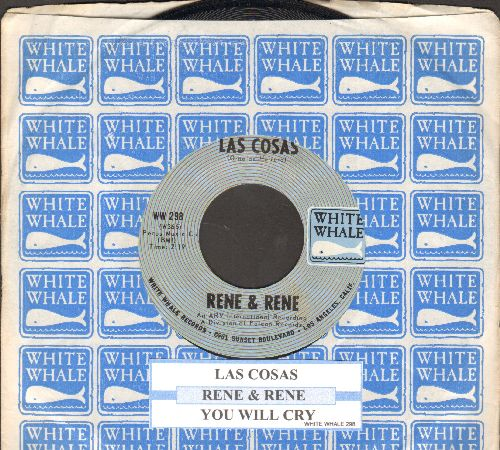 Rene & Rene - Las Cosas/You Will Cry (with juke box label and White Whale company sleeve) - NM9/ - 45 rpm Records