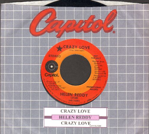 Reddy, Helen - Crazy Love (double-A-sided DJ advance pressing with juke box label and Capitol company sleeve) - EX8/ - 45 rpm Records