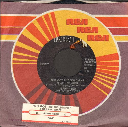 Reed, Jerry - She Got The Goldmine (I Got The Shaft)/44 (with juke box label and RCA company sleeve) - EX8/ - 45 rpm Records