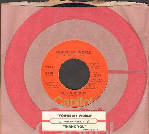 Reddy, Helen - You're My World/Thank You (with Capitol company sleeve and juke box label) - EX8/ - 45 rpm Records