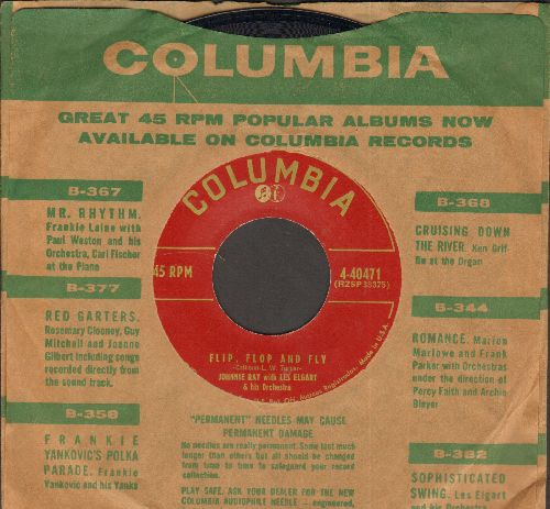 Ray, Johnnie - Flip, Flop And Fly/Thine Eyes Are As The Eyes Of A Dove (with vintage Columbia company sleeve) - NM9/ - 45 rpm Records
