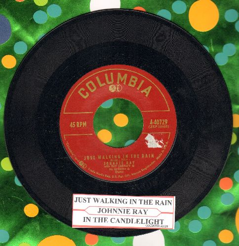 Ray, Johnnie - Just Walking In The Rain/In The Candlelight (with juke box label) - EX8/ - 45 rpm Records